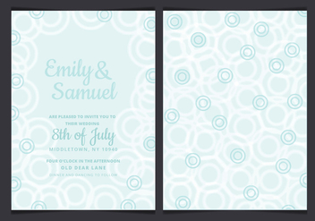 Vector Pastel Wedding Invitation - vector gratuit #429913