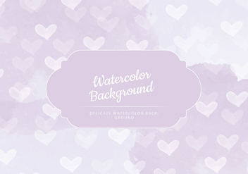 Vector Delicate Watercolor Background - vector gratuit #429923