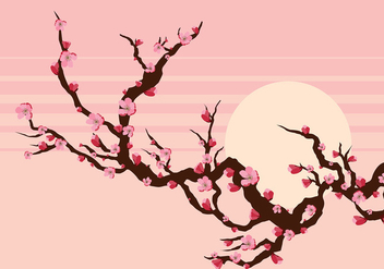 Peach Blossom Branch Free Vector - бесплатный vector #429933