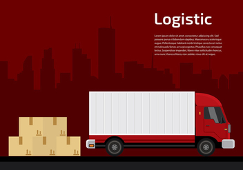 Camion Logistic Free Vector - Free vector #429943