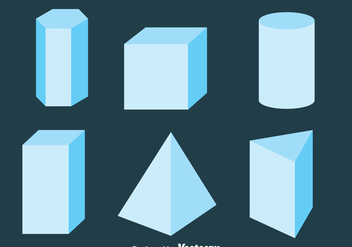 3D Geometric Shapes Collection Vector - vector gratuit #430013
