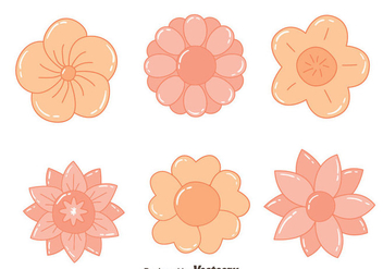 Nice Hand Drawn Flowers Vectors - бесплатный vector #430023