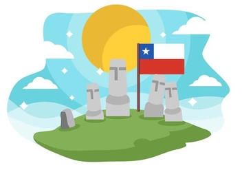Free Chile Landmark Easter Island Background Vector - Free vector #430043