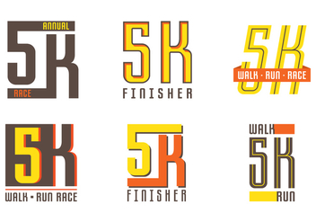 5K Label - Free vector #430123