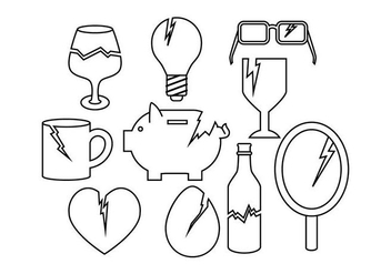 Free Broken Things Icon Vector - Kostenloses vector #430153