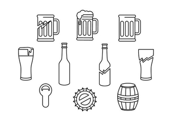 Free Beer And Baverage Icon Vector - Kostenloses vector #430163