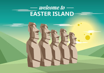Easter Island Statue - Free vector #430173