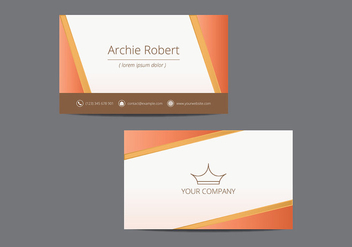 Tarjetas. Name Card Template - Kostenloses vector #430203