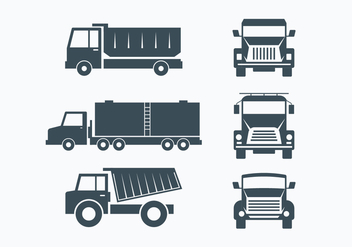 Camion Collection Set - Kostenloses vector #430213