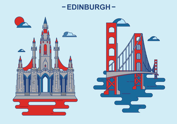 Edinburg Kingdom Building Vector Illustration - бесплатный vector #430243