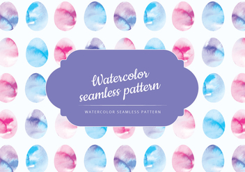 Vector Watercolor Easter Eggs Pattern - Free vector #430263