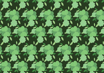Clover Leaves Background - vector #430273 gratis