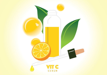 Vitamin C Serum Illustration - Free vector #430283
