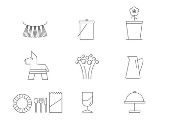 Essential Spring Party Icon Vectors - бесплатный vector #430293