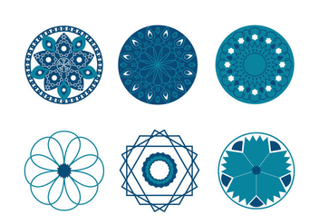 Geometric Islamic Symbols Vector - бесплатный vector #430303