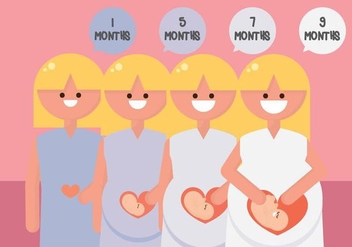 Pregnancy Period - Free vector #430333