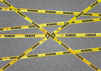 Rusty Danger Warning Vector Background - Free vector #430343