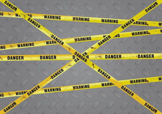Rusty Danger Warning Vector Background - Kostenloses vector #430343