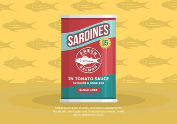 Sardine Background - vector gratuit #430433