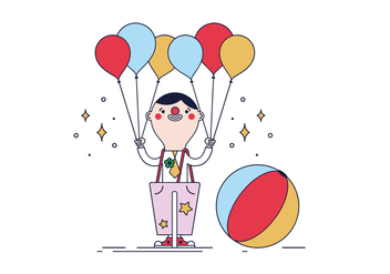 Free Clown Vector - vector #430473 gratis