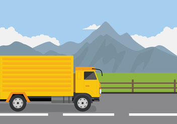 Camion On the Road Free Vector - Free vector #430493