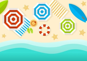 Free Beach Top View Vector - vector gratuit #430503