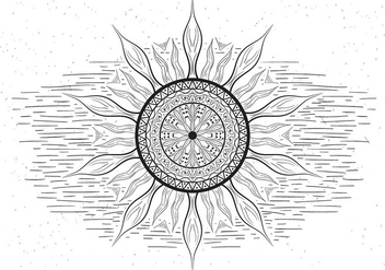 Free Mandala Vector Sun Illustration - vector gratuit #430523