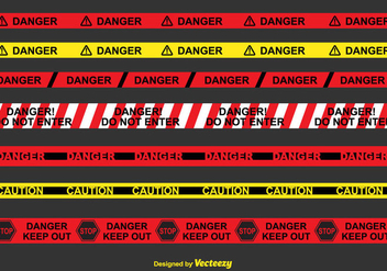 Danger Tape Vector Set - vector gratuit #430533