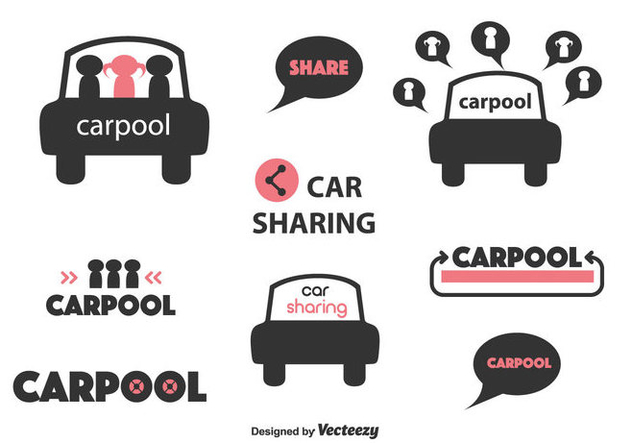 Carpool Vector Labels - Kostenloses vector #430553