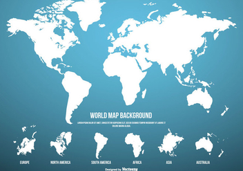 Blue World Map Background - Kostenloses vector #430613