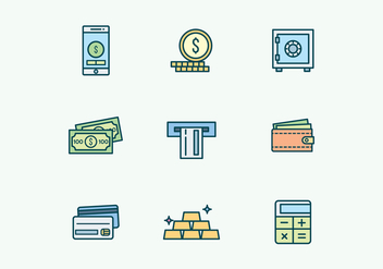 Banking and Finance Icons - vector gratuit #430623