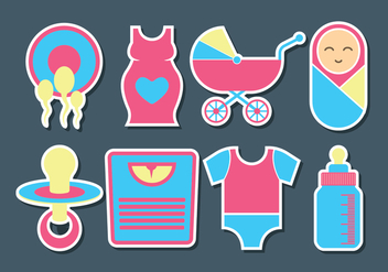 Maternity Vector Icons - vector gratuit #430653