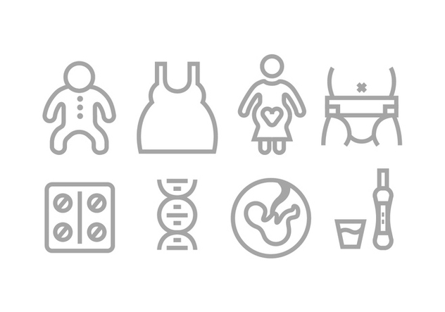 Mom and baby icons - vector gratuit #430663