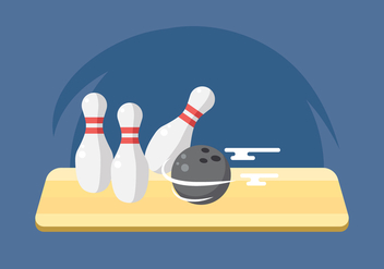 Illustration of Bowling Ball Smashing Pins - Free vector #430673