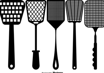Vector Flat Fly Swatter Icons - Free vector #430733