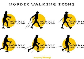 Vector Nordic Walking Signs - Free vector #430743