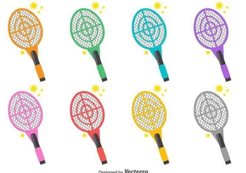 Vector Collection Of Fly Swatter Icons - Free vector #430753