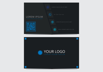 Blue Stylish Business Card Template - vector #430763 gratis