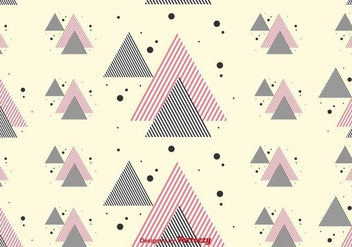 Stripe Triangles Pattern - vector gratuit #430783