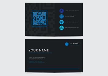 Blue Stylish Business Card Template - vector gratuit #430803