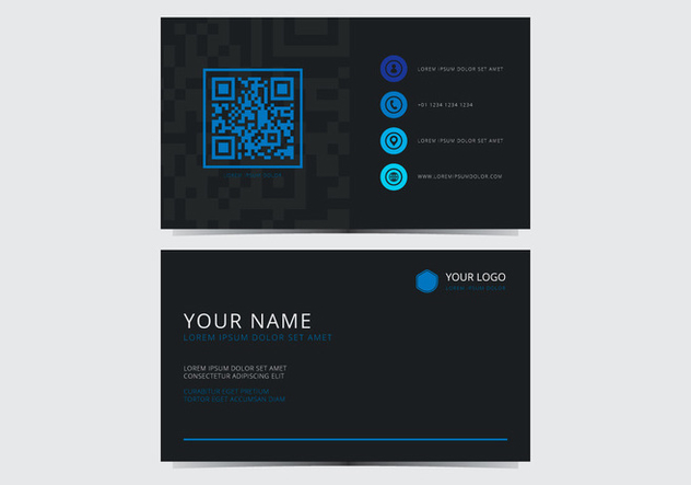 Blue Stylish Business Card Template - Free vector #430803