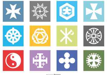 Religious Symbol Icon Set - Free vector #430823