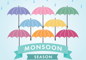 Monsoon Season - Free vector #430873