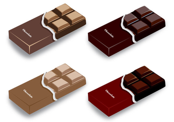Chocolate Bar Vector Designs - vector #430903 gratis
