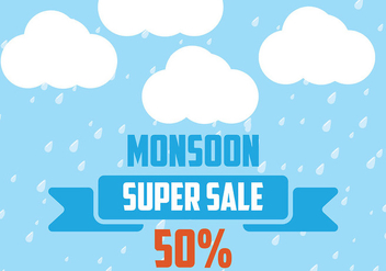 Monsoon Background Vector - Free vector #430913