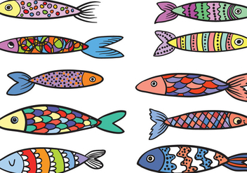 Free Colorful Fish Vectors - vector #430953 gratis