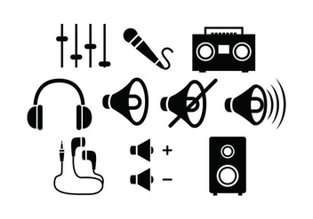 Free Sound Silhouette vector - Free vector #430963