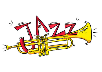 Gold Trumpet Musical Instrument Watercolor Style - Free vector #431013