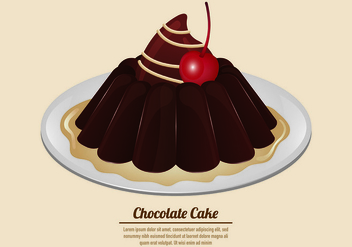 Vector Of Chocolate Cake - vector gratuit #431063