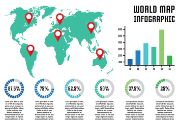 World Map Infographic - Free vector #431103